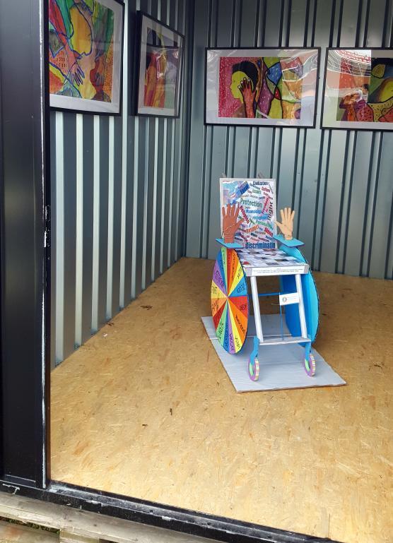 Här är rullstolen som RG 1 har jobbat med